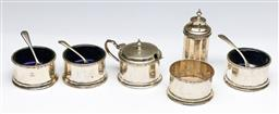 Sale 9175 - Lot 87 - An Early 20th Century Hardy Bros Sterling Silver Suite