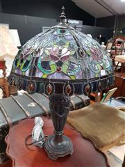 Sale 8717 - Lot 1050 - Leadlight Shade Table Lamp