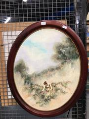 Sale 8752 - Lot 2065 - Anita Newman  - Summer at Sofala, oil on board, Signed in Oval Frame