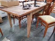 Sale 8782 - Lot 1327 - Recycled Elm Dining Table (H: 76 L: 184 W: 90cm)