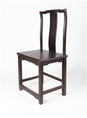 Sale 9020H - Lot 73 - A well constructed Chinese hardwood chair, height 108, width 51cm