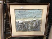 Sale 8861 - Lot 2033 - J. Neumann - Figures and Horsesmixed media on paper , 44 x 49cm, signed lower right