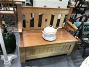 Sale 8889 - Lot 1395 - Timber Lift Top Bench