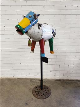Sale 9102 - Lot 1273 - Clarence the Cow letterbox, base not included (h:160 x w:72cm)