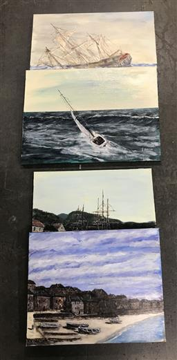 Sale 9113 - Lot 2070 - John Colbert (4 works) Maritime scenes, acrylic on canvas, various sizes, each signed -