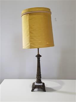 Sale 9255 - Lot 1351A - Brass & marble table lamp (h101cm)
