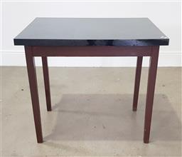 Sale 9255 - Lot 1171 - Timber works table (h:79 x w:84 x d:67cm)