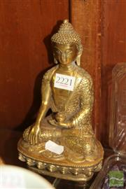 Sale 8236 - Lot 78 - Gilt Buddha Figure