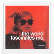 Sale 8595 - Lot 2033 - Andy Warhol - After the original, The World Fascinates Me