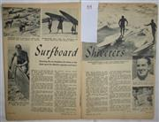 Sale 8431B - Lot 64 - Article, Surfboard Shiverers, 2 pages in Sporting Life Magazine July, 1949
