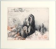 Sale 8789 - Lot 2054 - Jorg Schmeisser, Rock Formations, 1990, colour etching and aquatint ed.22/60, 74.5 x 85.5cm (frame)