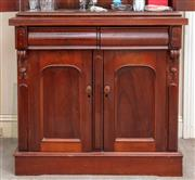 Sale 9058H - Lot 86 - A Victorian mahogany two door, two drawer chiffonier on plinth base. H-101 W-107 D-52cm