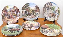 Sale 9103M - Lot 712 - A collection of Royal Doulton limited edition wall plates depicting bucolic scenes diameter 21cm (8)