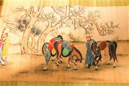 Sale 9136 - Lot 203 - A long Chinese scroll of figures (L 346cm)