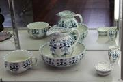 Sale 7953 - Lot 28 - Furnivals 'Turin' Blue and White Toilet Set
