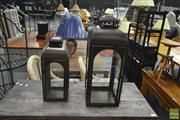 Sale 8257 - Lot 1015 - Two Graduated Lanterns