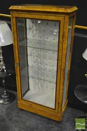 Sale 8284 - Lot 1003 - Glass Front Birds Eye Maple Veneered Display Cabinet
