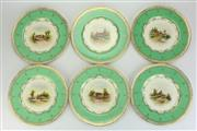 Sale 8419 - Lot 176 - Royal Worcester Set of Six Cabinet Plates by Raymond Rushton & James Allen