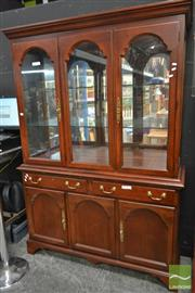 Sale 8515 - Lot 1012 - Drexel Display Cabinet with Three Glass Panel Doors Above Two Drawers & Three Doors (063173, 062016)