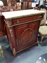 Sale 8611 - Lot 1083 - French Style Pier Cabinet with Marble Top (H: 100 W: 84 D: 43cm)