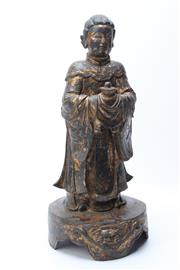 Sale 8729 - Lot 34 - Chinese Bronze Figure of A Lady