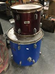 Sale 8759 - Lot 2151 - Blue and Red Drums