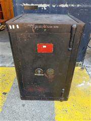 Sale 8826 - Lot 1002 - Victorian Hobbs and Co Fire Proof Safe (key in office)