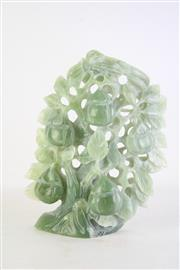 Sale 8849 - Lot 49 - A Carved Greenstone Fruit Tree, some small chips and losses,H30cm
