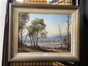 Sale 8910 - Lot 2051 - Peter Hill - Rivers Edge oil on canvas, 29 x 39 cm, signed verso