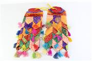 Sale 8989F - Lot 664 - Pair of Tibetan Style Temple Lantern Shaped Banners