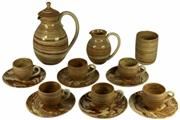 Sale 8057 - Lot 73 - Martin Boyd Swirl Pattern Coffee Set