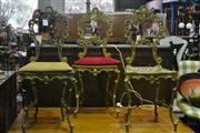 Sale 8105 - Lot 1048 - Set of 3 Ornate Metal Chairs