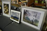 Sale 8127 - Lot 877 - Pair of Alpine photographs in silver timber frames, and another