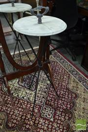 Sale 8507 - Lot 1069 - Marble Top Outdoor Side Table