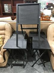 Sale 8942 - Lot 1077 - Collection of Folding Side Tables and Another (5) (H: 66, W: 67, D: 39cm)