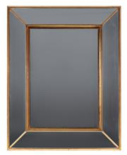 Sale 9040H - Lot 30 - A modern gilt cushion mirror, 94 x 74cm, consisting of four outer panels and a central recessed rectangular panel.