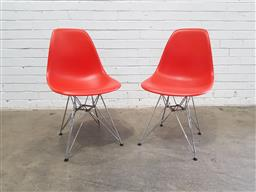 Sale 9151 - Lot 1016 - Pair of Eames Eiffel chairs by Vitra (h:80 x w:46 x d:41cm)