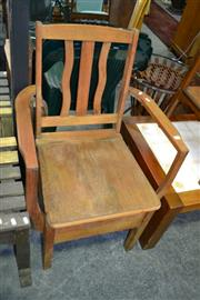 Sale 8115 - Lot 1081 - Silky Oak Chamber Pot Chair