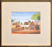 Sale 8259 - Lot 506 - Kevin Charles (Pro) Hart (1928 - 2006) - Townscape, 1982 15 x 20cm