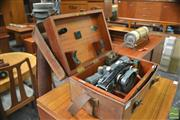 Sale 8338 - Lot 1080 - Vintage English Theodolite in Case with Tripod