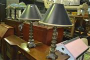 Sale 8380 - Lot 1064 - Pair of Brass Table Lamps