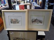 Sale 8417T - Lot 2044 - Lorna Sant (2 works), Paddington & Como Hotel, watercolour and ink, 12.5 x 17.5cm, each signed lower