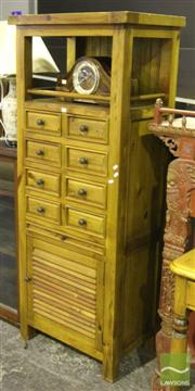 Sale 8499 - Lot 1010 - Pine Shelving with Drawers