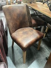Sale 8896 - Lot 1035 - Set of 6 Leather Upholstered Dining Chairs