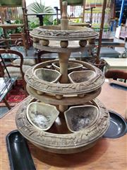 Sale 8904 - Lot 1078 - Vintage Tiered Timber Fruit Stand
