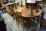 Sale 8039 - Lot 1053 - G Plan Table & Set of 6 Chairs (1 x Chair A/F)