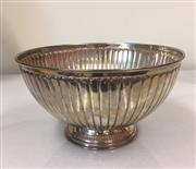 Sale 8205 - Lot 73A - A silver fluted and footed circular bowl marked 925, D 19cm