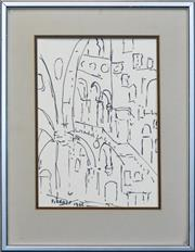 Sale 8257A - Lot 93 - Desiderius Orban (1884 - 1986) - Firenze, 1966 32 x 23.5cm