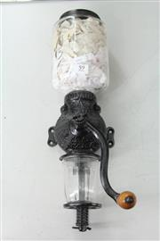Sale 8261 - Lot 59 - Arcade Wall Mounted Coffee Grinder