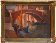 Sale 8325A - Lot 89 - Mary Troy (1889 - 1973) - Rialto Bridge 49 x 72cm